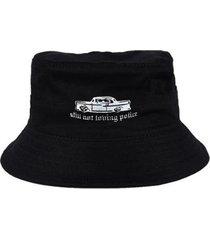 chapéu bucket skull clothing still not loving police - unissex
