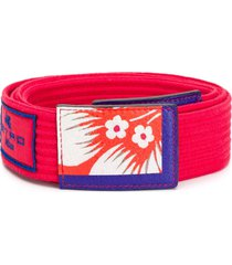 etro printed woven belt - red