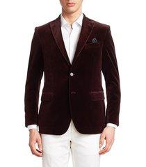 saks fifth avenue men's collection velvet dinner jacket - burgundy - size 42 l