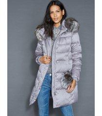 the fur vault fox-fur-trim puffer coat
