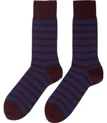 'even stripe' intarsia socks