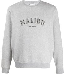 malibu crew-neck sweatshirt grey
