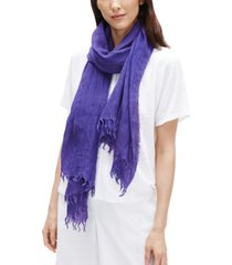 eileen fisher organic linen-blend fringed scarf