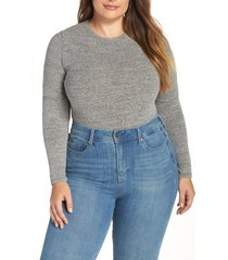 women's madewell crewneck bodysuit, size x-small - grey