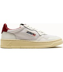 sneakers autry 01 low colore bianco rosso