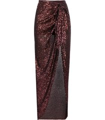 balmain sequined tie-front midi skirt - brown