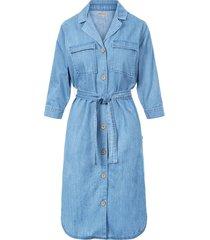 doorknoop jurk jeans blauw
