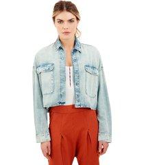 camisa rosa chá nininha jeans azul feminina (jeans claro, gg)