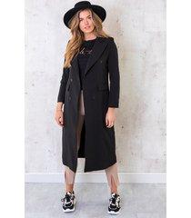 ultra long coat zwart