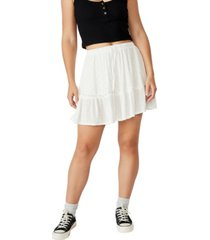 cotton on women's penny tiered mini skirt