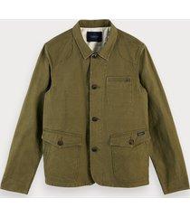 scotch & soda 100% cotton worker jacket