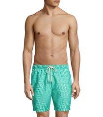 tommy bahama men's naples afish solid swim trunks - deep ocean - size l