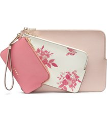 dkny bryant floral wristlet pouches, set of 3