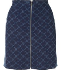 bapy by *a bathing ape® fitted monogram skirt - blue