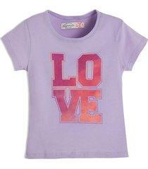 camiseta manga corta violeta  offcorss