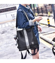 mochila de mujer, bolso de viaje de ocio con mochila de mujer con-negro