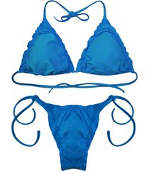 biquãni cortininha divance turquesa   calcinha ripple 612 - azul - feminino - poliamida - dafiti
