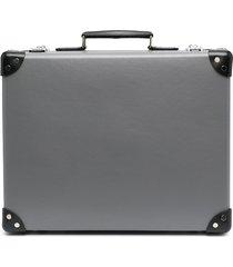 10 corso como leather trunk suitcase - grey