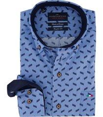 overhemd portofino blauw dessin