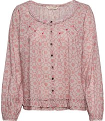 josephine blouse blus långärmad rosa odd molly