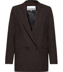 suiting blazer blazer colbert bruin ganni