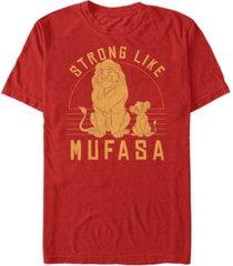 disney men's the lion king be strong like mufasa short sleeve t-shirt