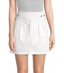 rta women's skylar belted a-line skirt - vintage white - size 6