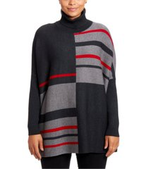 joseph a colorblocked turtleneck poncho