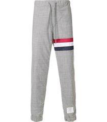 thom browne signature stripe lounge trousers - grey