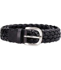 orciani masculine leather braided belt