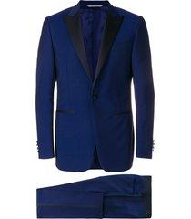 canali formal smoking suit - blue
