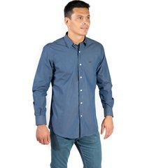camisa azul  pato pampa corte clasico lisa