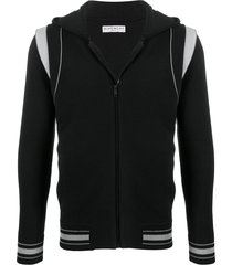 givenchy paneled hoodie - black