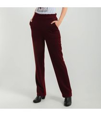pantalon para mujer en doble punto cafe