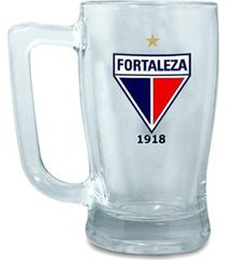 caneca escudetto time fortaleza vidro personalizada escudo 340ml