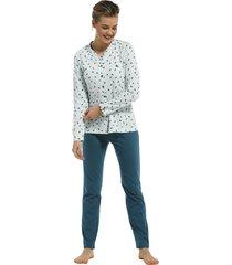 dames pyjama doorknoop pastunette 20212-145-6-54