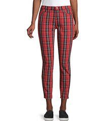 the stiletto plaid cropped jeans
