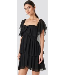 trendyol carmen neckline mini dress - black