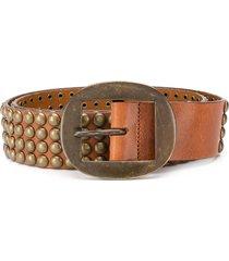 dsquared2 studded belt - brown