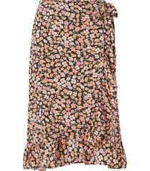 kjol onlfuchsia below knee wrap skirt wvn
