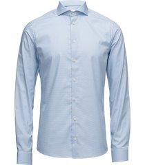 york-collection-super slim fit overhemd business blauw eton