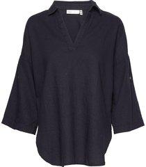 brizaiw shirt blouse lange mouwen blauw inwear