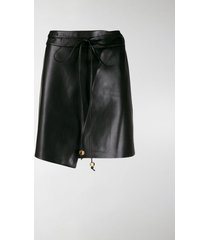 nanushka sekoya vegan leather wrap skirt