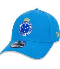 bonã© new era 3930 cruzeiro aba curva azul - azul - masculino - dafiti