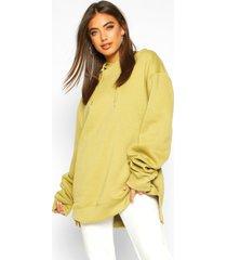 extreme oversized hoodie, olijf