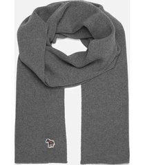 ps paul smith men's zebra scarf - grey