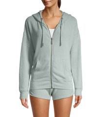 vintage havana women's hacci front-zip hoodie - light grey - size l
