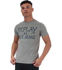 mens vintage jeans logo t-shirt