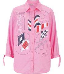 camicetta stampata (fucsia) - john baner jeanswear