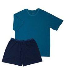 pijama masculino curto mash 811.28 masculino gg azul unica